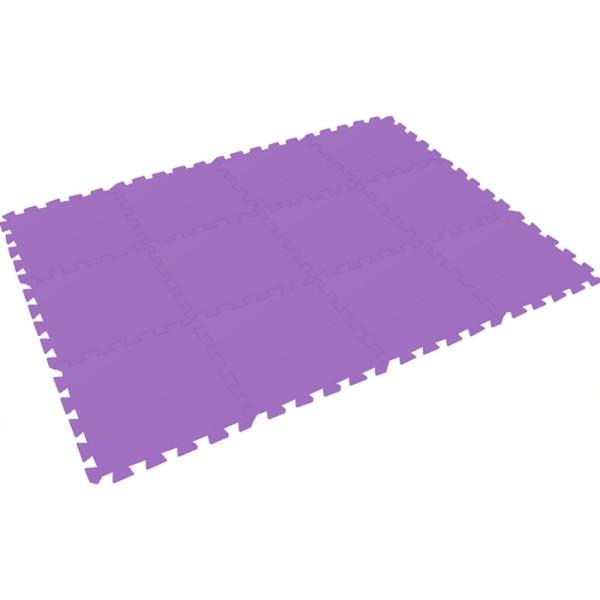 Bodenmatte Puzzlematte UNO (24 Teile), lila einfarbig