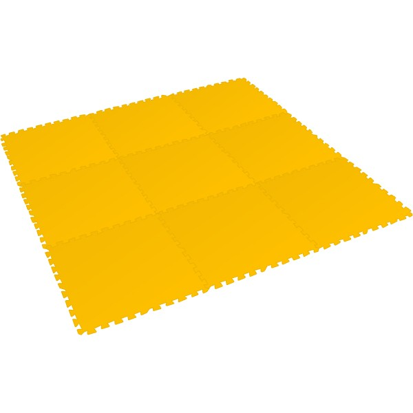 Bodenmatte Puzzlematte XL - 8mm - (9 Teile) gelb