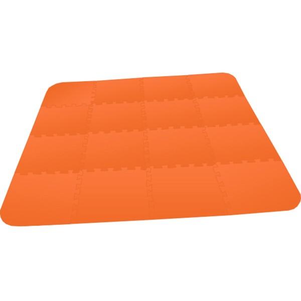 Bodenmatte Puzzlematte UNO Plus (16 Teile) 8 mm - orange